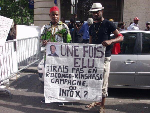 Les congolais de France disent Non à la Francophonie à Kinshasa
