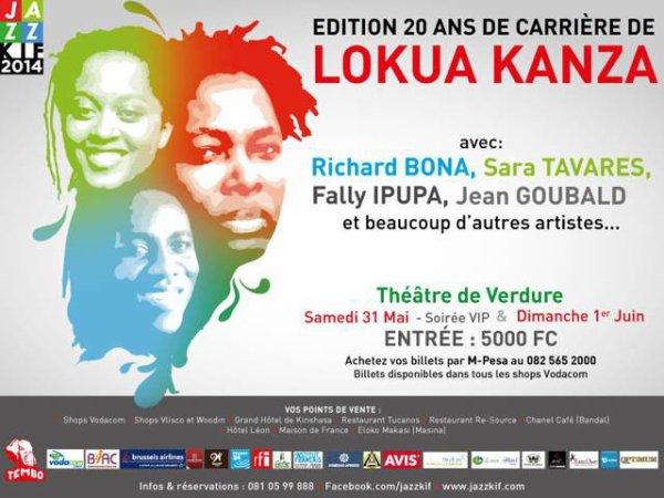 Lokwa Kanza fête ses 20ans de carrière au Festival Jazz Kiff