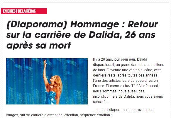 Hommage de Télé Star à Dalida