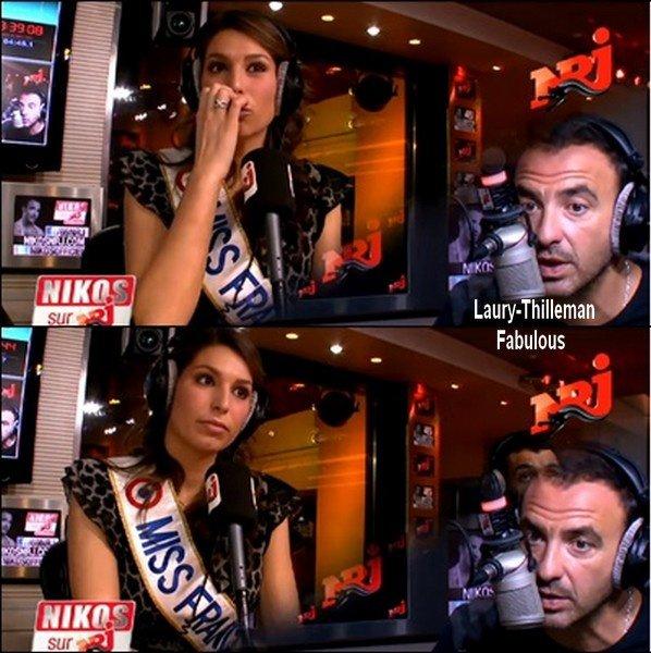 ♥Laury Etait Ce Matin A L'Emission 6/9 Sur NRJ Avec Nikos Aliagas, Mustapha El Attrassi & Karine Ferri.