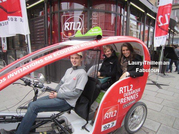 ♥Laury  Etait A Cycloville, A Rennes, Dans Un Vélo-Taxi Avec  RTL2..  ..