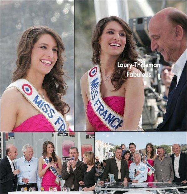 """Miss France 2011 Laury  Etait Sur le plateau De """"Midi En France"""" qui A Eu Lieu A Nice . Elle Etait En Compagnie De Laurent Boyer ! Ravissante , Comme Toujours !"""