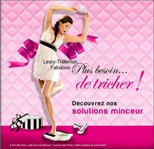 Miss France 2011 Laury Fait La Promotion d'Esthétic Center , Spécial Mincisement. LAURY (l) .