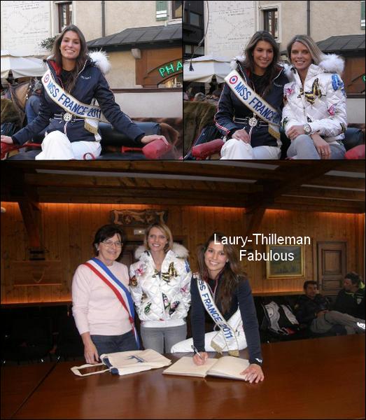 Miss France 2011 Laury  A Megève , En Haute Savoie .. LAURY (l)