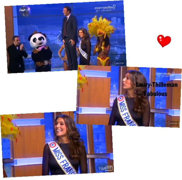 Miss France 2011 Laury  Nous A Fait Découvrir Une De Ses Photos, Via Twitter.Les Trois Photos En Dessous, Représente Laury Qui Décerne Un Prix A Arthur.(l)