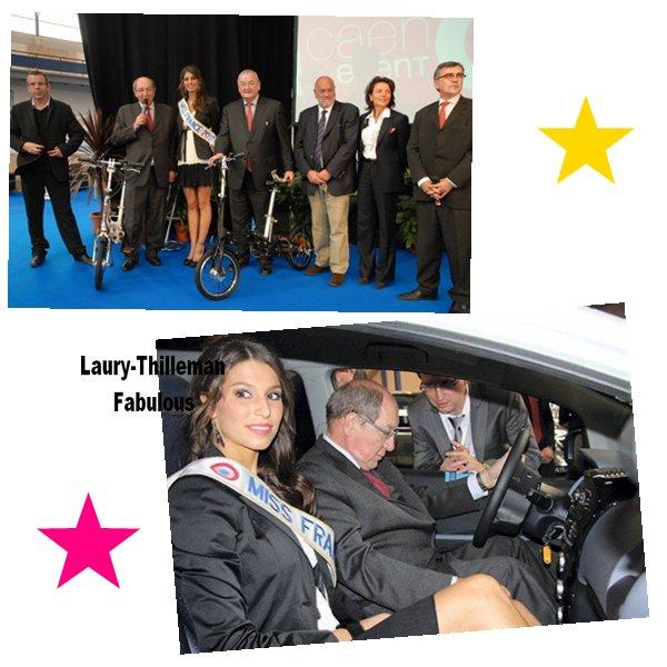 Miss France 2011 Laury  A Inauguré En Compagnie De Philippe Duron, Le Salon Ouest Collectivités Qui Se Tient  Au Parc Des Expositions  Jusqu'à Ce-Soir.(l)