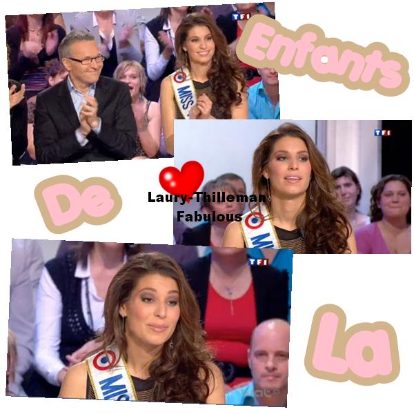 """Miss France 2011 Laury  Etait Invitée """"Aux Enfants De La Télé"""" Qui Etait Diffusée Hier Sur TF1 Avec Arthur. LAURYYY'(l)"""