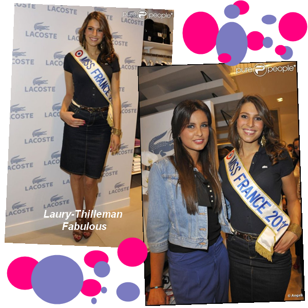 """Miss France 2011 Laury  Etait, Avant-Hier  A La Soirée De L'Inauguration De La Boutique """"Lacoste"""", Qui Se Trouvait Au Champs-Elysées. (l)"""