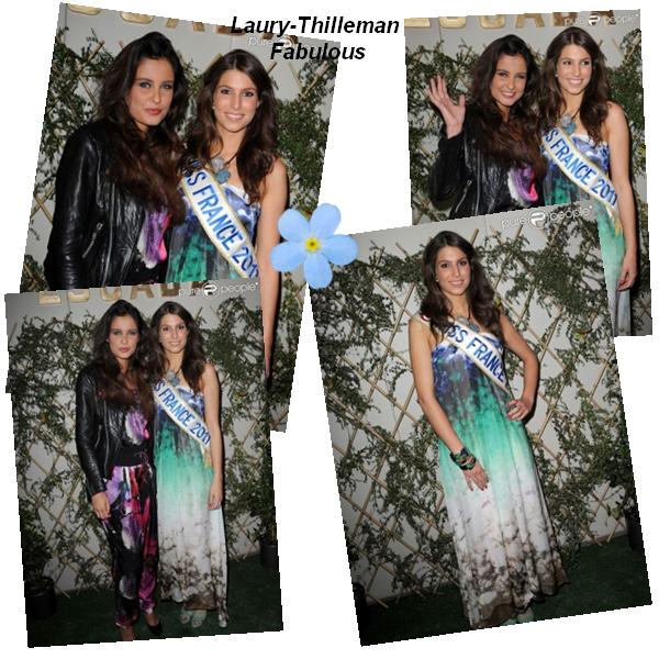 Miss France 2011 Laury  Etait, Aux Garden Party, A La Boutique ESCADA. Nous La Voyons Accompagnée De Malika, Ainsi Qu'Anastasia & Chanel.(l). Elle Etait Egalement A L'Elèction De Miss Roche-Sur-Yon.(l)