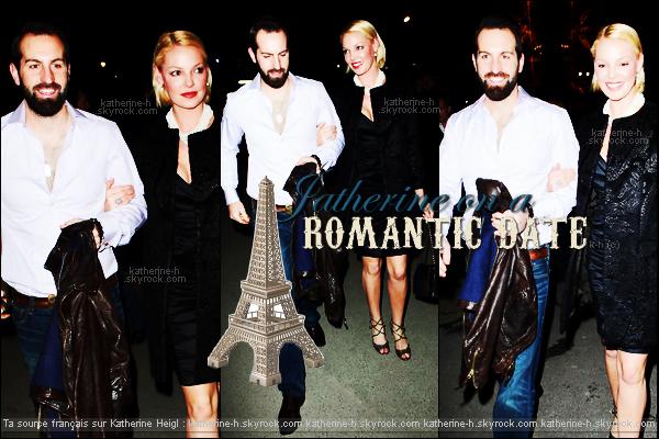 28 Janvier - Katherine et Josh sont allés dinné en amoureux au restaurant Jules Verne à la Tour Eiffel.