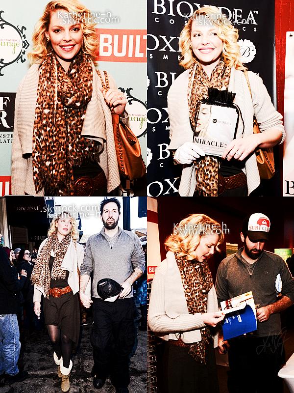 19 Janvier - Katherine, Josh et Nancy sont allés au Sundance Film Festival à Park City dans l'Utah, Katie a fait un tour au Kari Feinstein's Style Lounge.