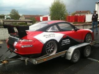 La décor de la Porsche