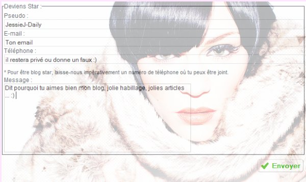 Devenir Blog Star ? Une grande envie. ♥