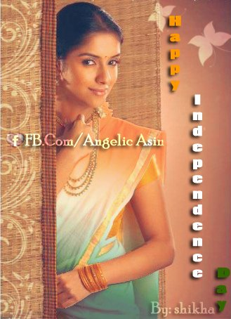 ✺ Happy Independence Day ✺  to all the viewers of Angelic Asin ....