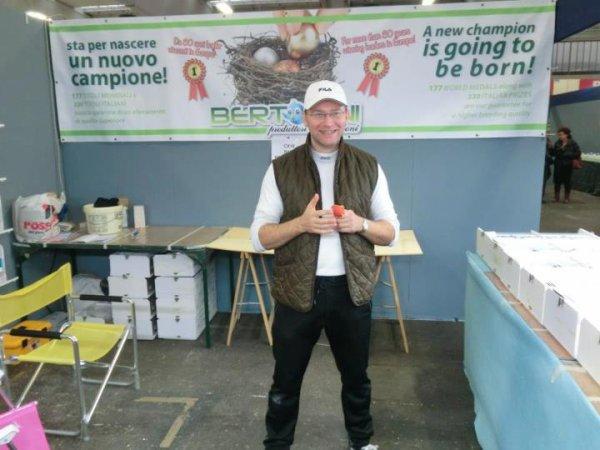 Raffaele Bertolini at his stand at world show.