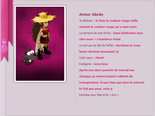 Miss Amakna j'appel => Armor-blacks