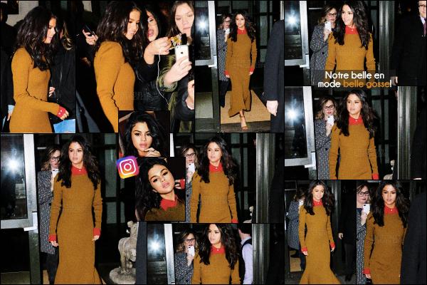 . CANDIDS- Selenaa été photographiée une fois de plus quittant son hôtel dansNYC-08 FEV 2017 Notre miss a poster des selfies d'elle sur le instagram de son maquilleur Hung Vanngo (@hungvanngo). Vos avis sur la tenue de Selly ? .
