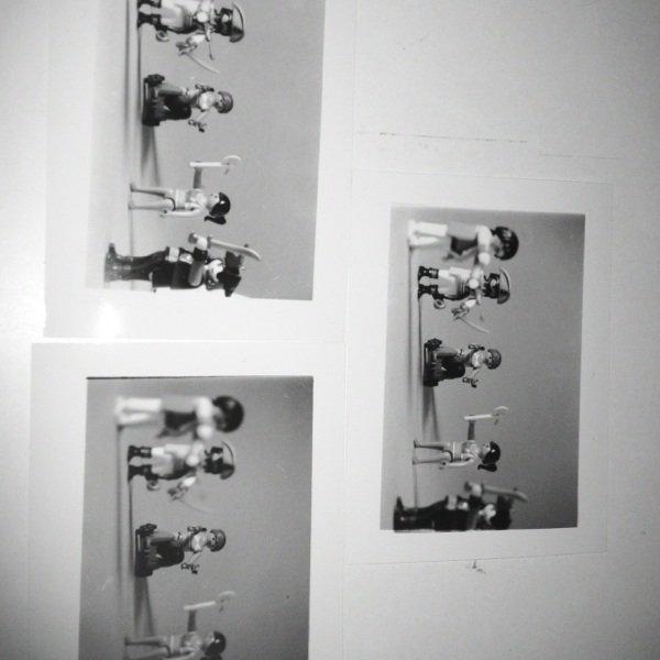 Premières photo en tirage argentique noir et blanc :3