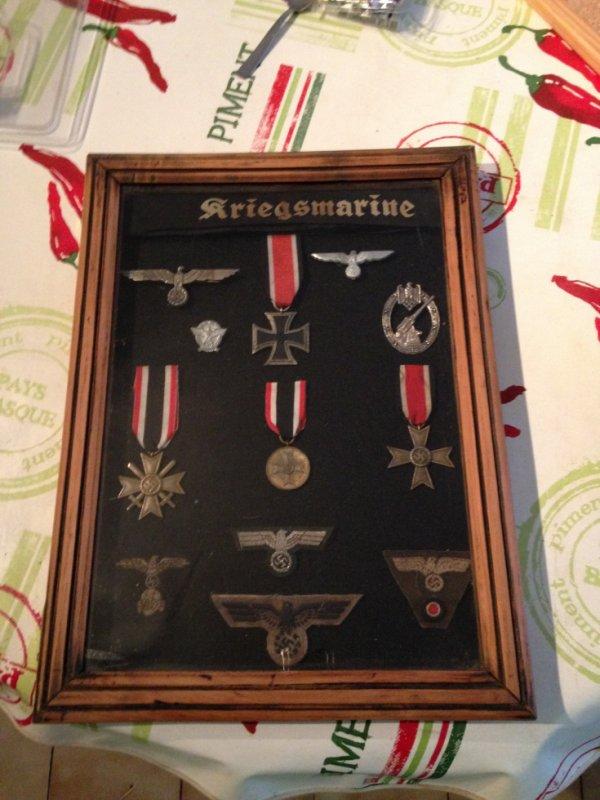 Cadre terminé WW2 médailles allemandes