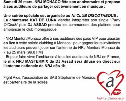 Kat DeLuna au 20 ans de NRJ Monaco le 26 Mars 2011