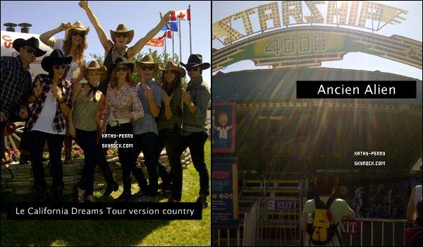. 16-07-11 Katy Perry a poster des photos d'elle sur son twitter elle était au Stampede de calgary. *