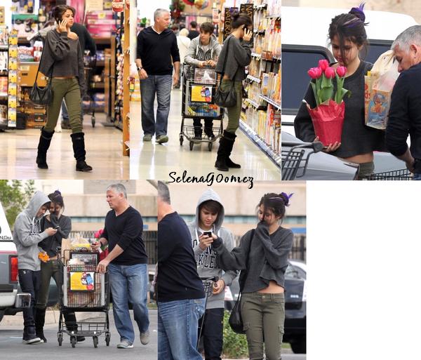 14.01 - Selena & Justin font leurs courses au supermarché, Los Angeles