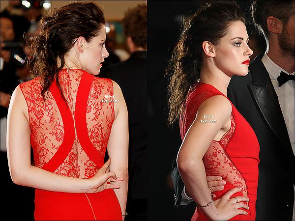 """. 25/05/12 : Kristen S. a la première de """"Cosmopolis"""" avec Tom Sturridge à Cannes.  Kristen a foulée le tapis rouge de Cannes pour soutenir sont petit ami R.Pattz avec Tom Sturridge ami de Rob'. ."""
