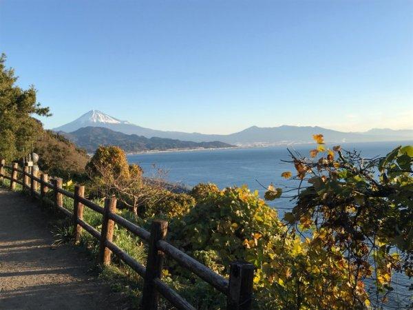薩埵峠の朝日2017.12.10