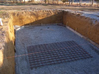 Prparation De La Dalle Bton  Construction Piscine Bois Maeva