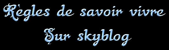 Règles de savoir vivre sur Skyblog