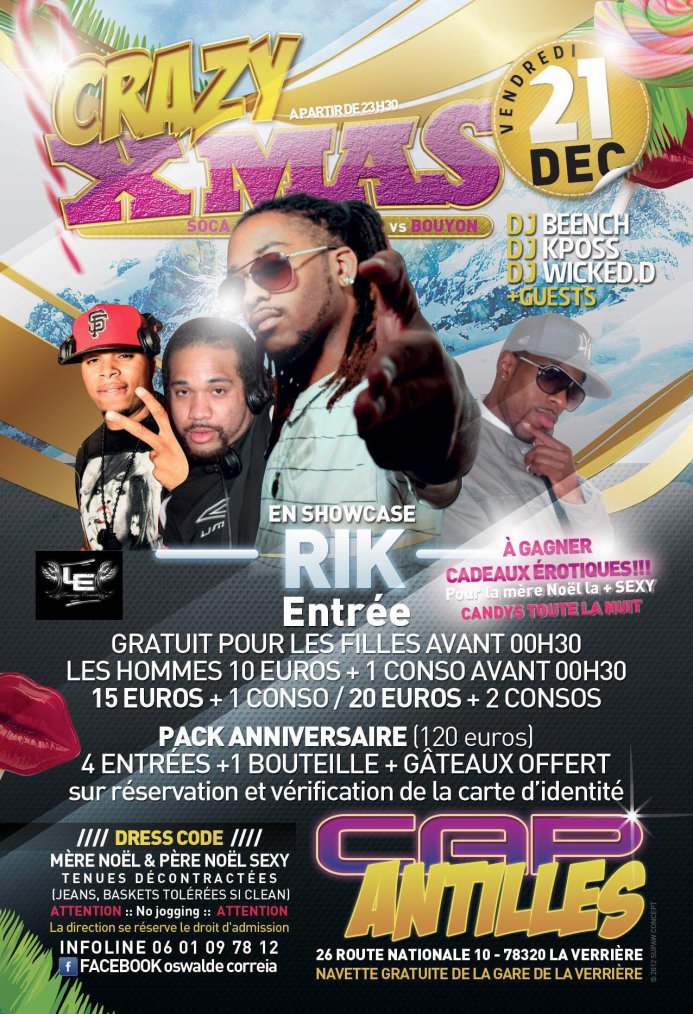 DJ WICKED.D au CAP ANTILLES  - VENDREDI 21 DECEMBRE 2012