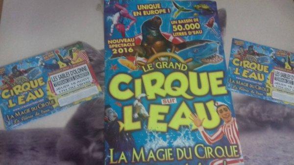 """""""reportage été numéro 1 Lucrio""""le cirque sur l'eau aux sables d'olonne""""."""