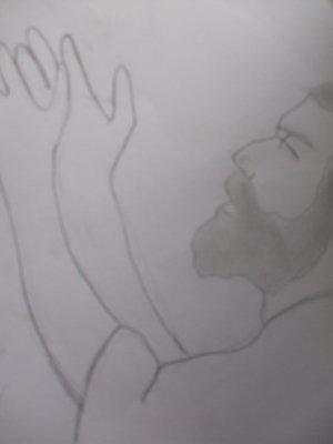 dessin de Morwenna  prière du matin