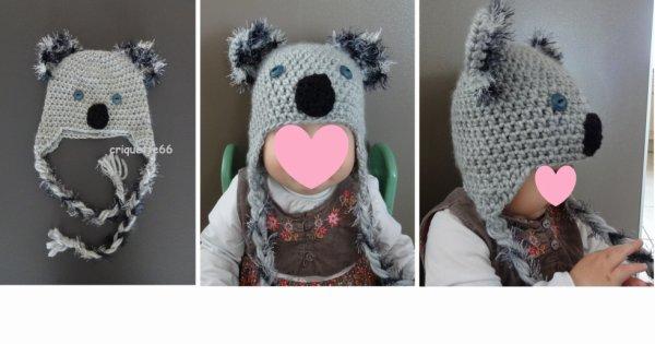Bonnet koala clair