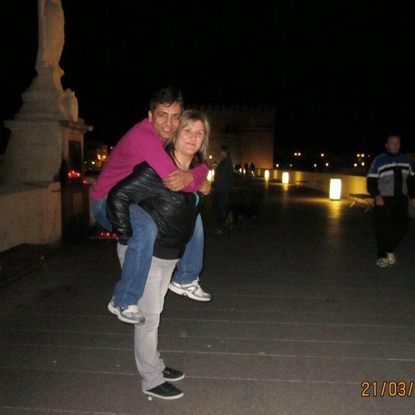 whit my husband in Cordoba