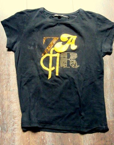 Tee shirt Zara Noir et Or : Taille L Petit ( Vend 20 euros ou échange sur Coup de coeur )