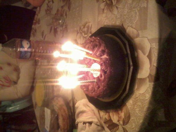 Fête mon anniversaire sans ma.famille c bien la premier fois mais c est un grand désespoird etre àssis en regardant le gâteau