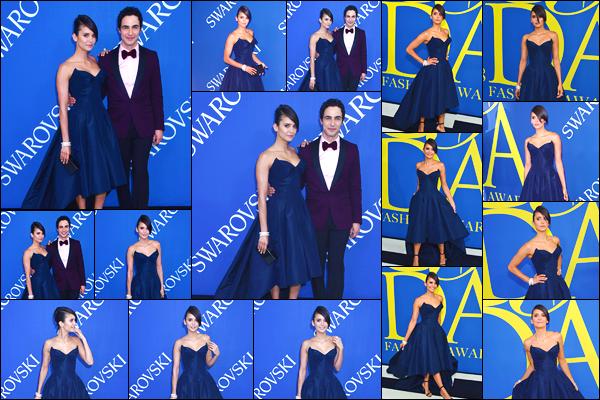 - '-04/06/18-'◘Nina Dobrev assistait à la cérémonie des «CFDA Fashion Awards » ayant lieu à New-York City. C'est dans une magnifique robe que nous retrouvons notre magnifique Nina lors de cette cérémonie. Je suis fan de son look, un gros top. -