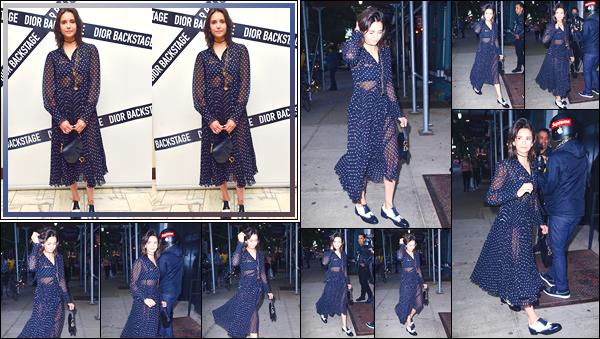- '-07/06/18-'◘Nina Dobrev a été vue alors qu'elle arrivait au dîner du lancement de : « Dior Makeup » à N-Y. C'est dans une jolie robe à poids que nous retrouvons notre belle brune dans les rues de New-York puis lors des backstage du dîner, top. -
