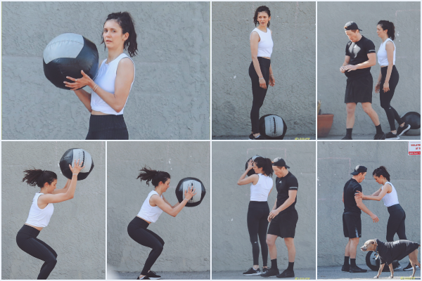 """- """"♦-16 Avril 2021"""" : Nina Dobrev aperçue avec Shawn allant entrain de faire du sport dans Santa Monica. On connait Nina comme étant une grande sportive, j'aime la voir faire son activité sportive avec son petit ami Shawn, c'est un top."""