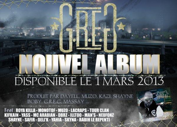 NOUVEL ALBUM LE 1ER MARS 2013