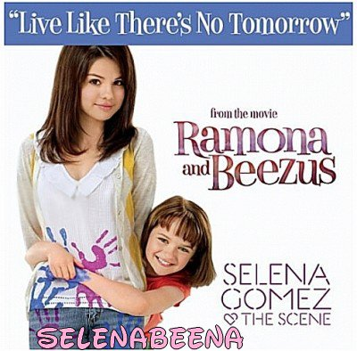 Couverture du single live like there's not tomorrow,selena y apparais avec joey little king :)