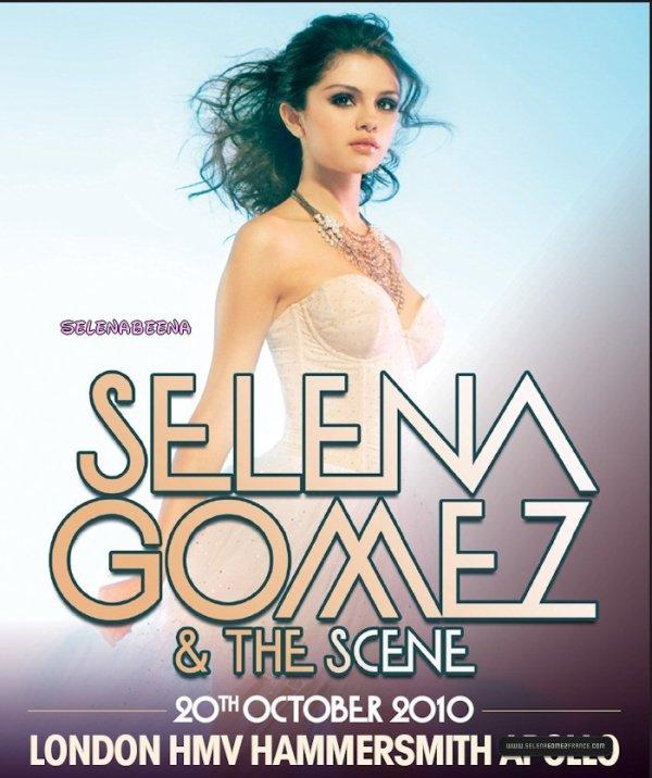 Voici le poster représentant selena,pour son concert qui se fera en octobre en angleterre :)