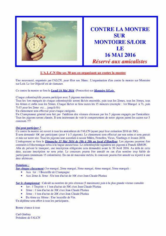 Contre la montre ALCN : 30 participants
