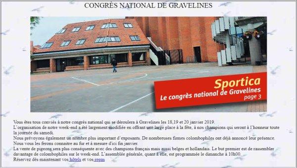 Congrès National de Gravelines 18, 19 & 20 Janvier 2019