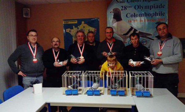 Retour des pigeons français des olympiades de Poznan