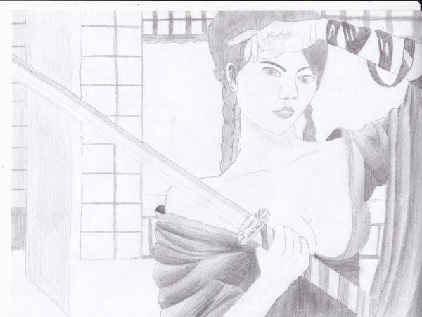 ^^ Girl with katana