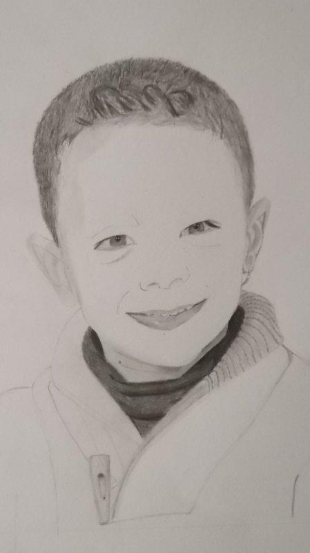 Portrait enfant ( en cours )