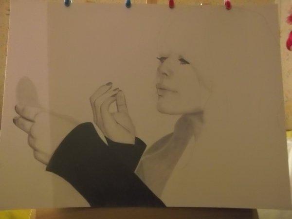 Je reprends un ancien dessin qu'il faut que je finis (Alex Hepburn)