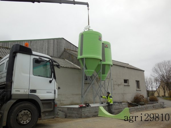 Mise en place de silo